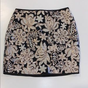 Foreign Exchange Sequin Floral Skirt S